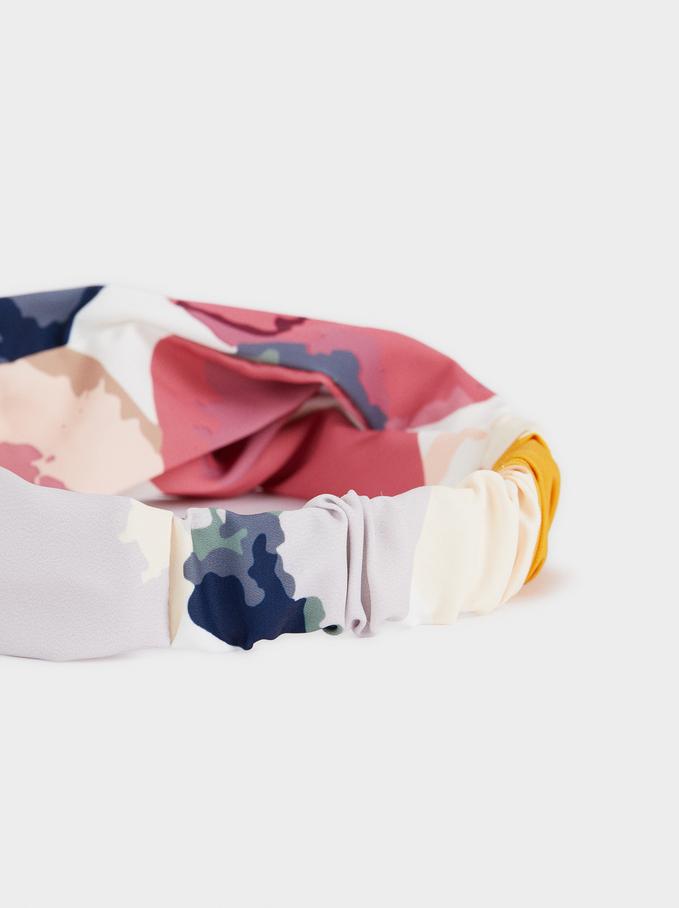 Multicoloured Printed Hairband, Multicolor, hi-res