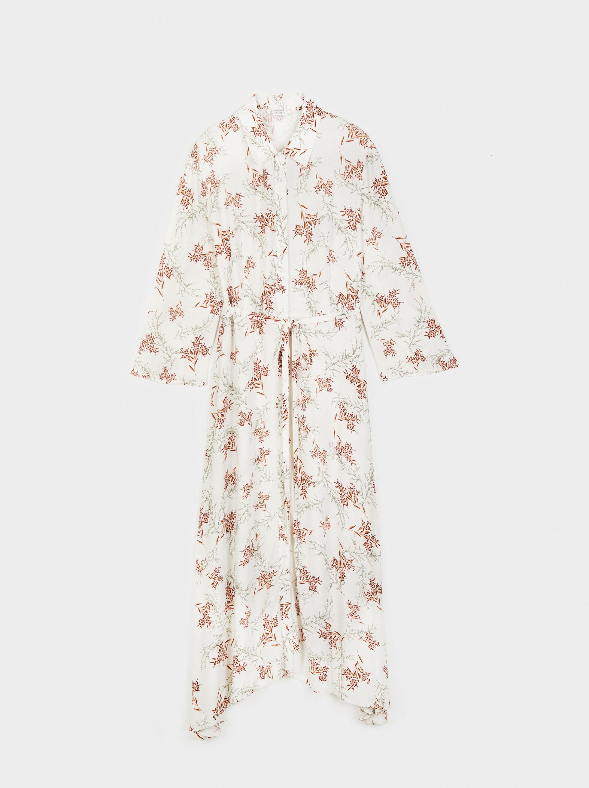 Floral Print Shirt Dress Online Exclusive, , hi-res