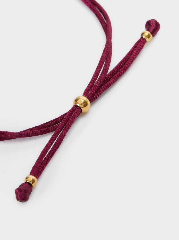 Adjustable Stainless Steel Bracelet With Charm, Grey, hi-res