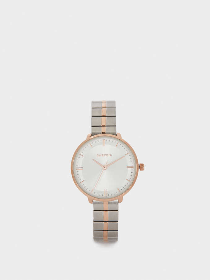 Watch With Stainless Steel Strap, Silver, hi-res