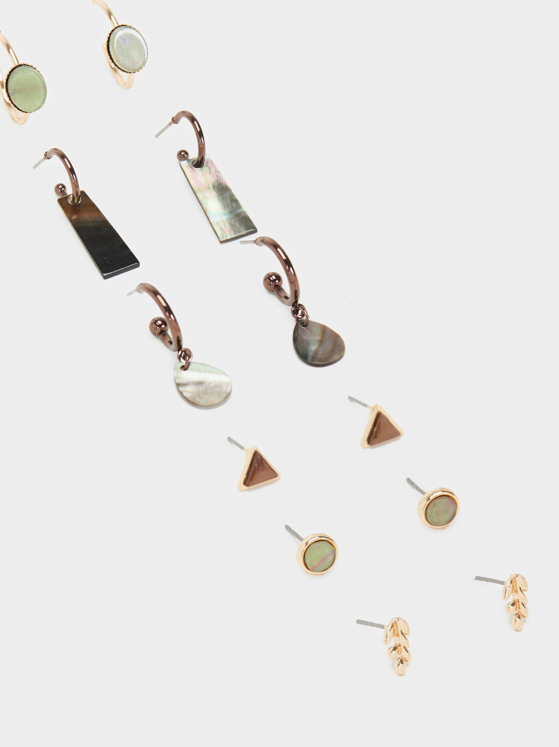 Blog Earring Set, Multicolor, hi-res
