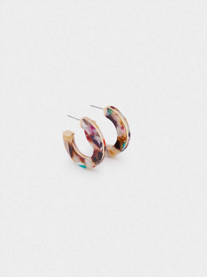 Pendientes De Aro Multicolor, Multicor, hi-res