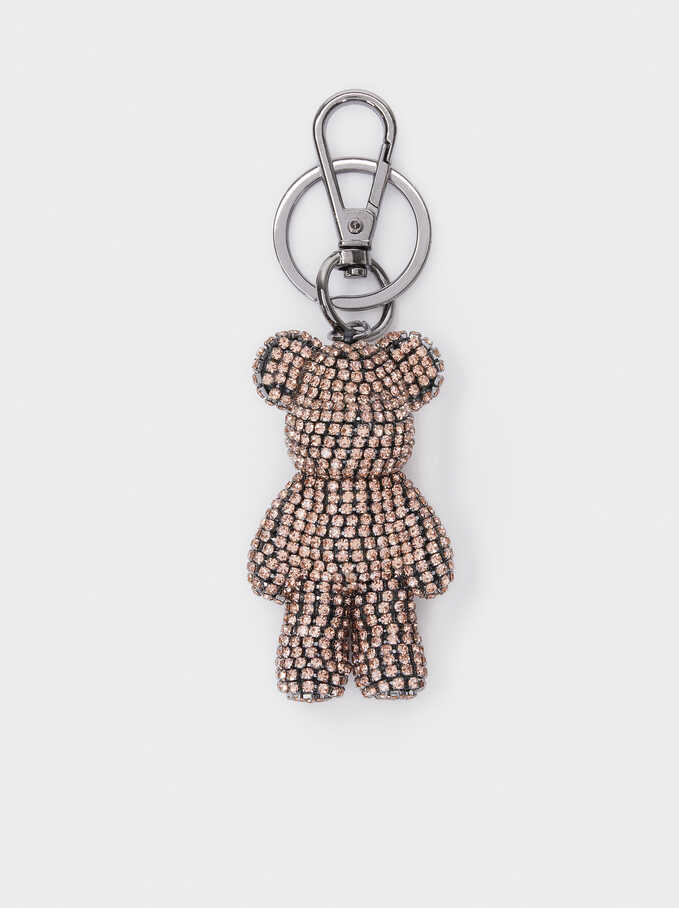 Bear Key Chain With Crystals, , hi-res