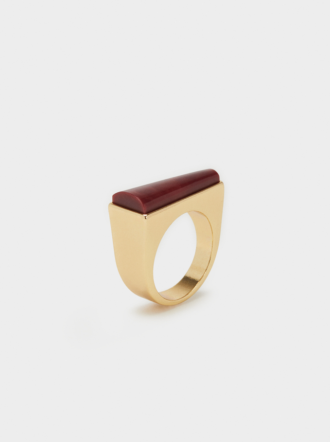 Savage Sparkle Ring, Brown, hi-res
