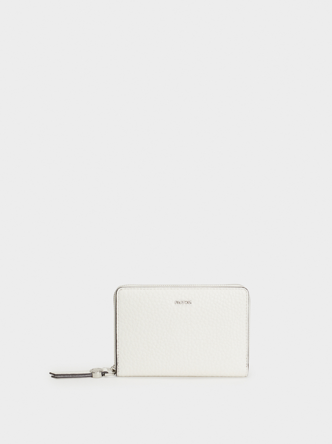 Plain Wallet, Ecru, hi-res