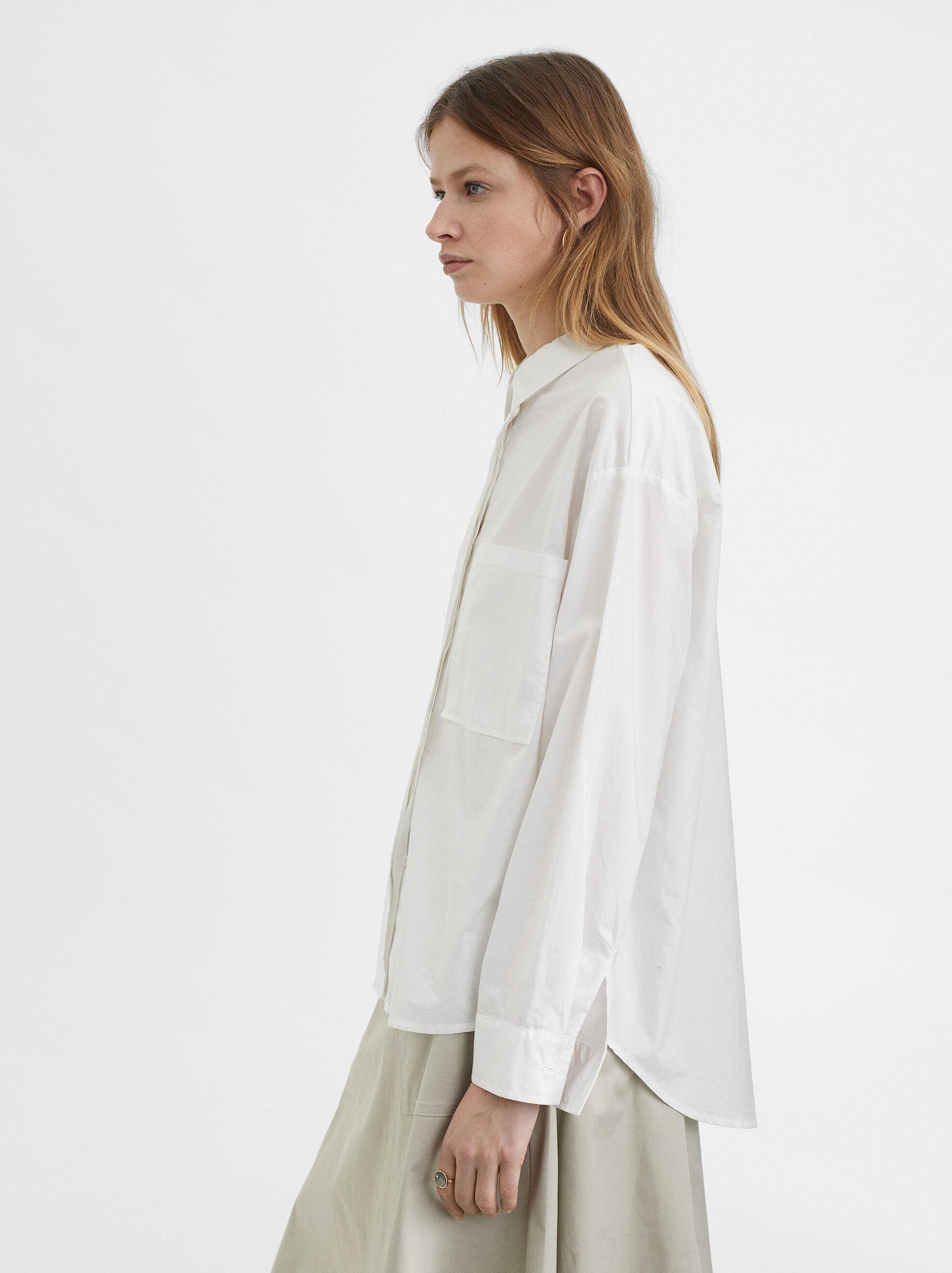 Shirt With Pocket, White, hi-res
