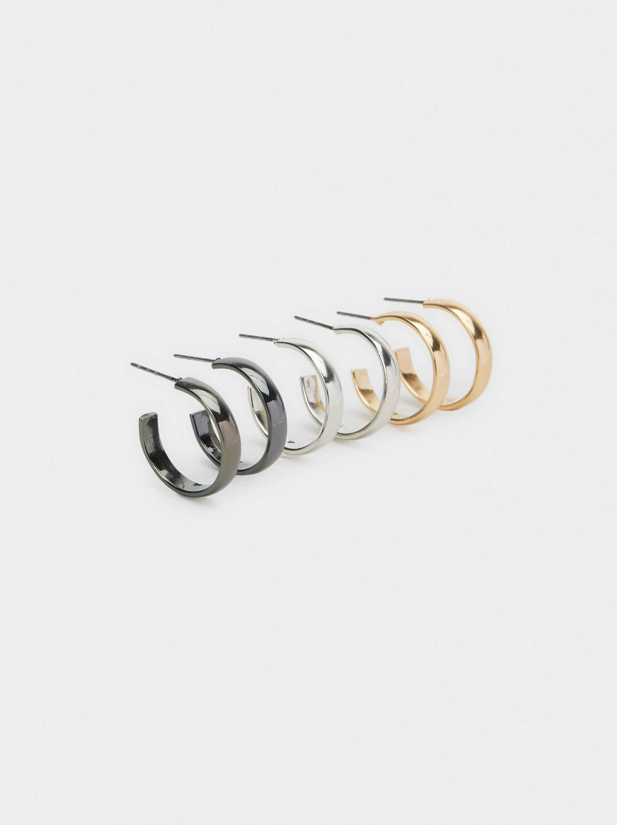 Set Of Basic Small Hoop Earrings, , hi-res