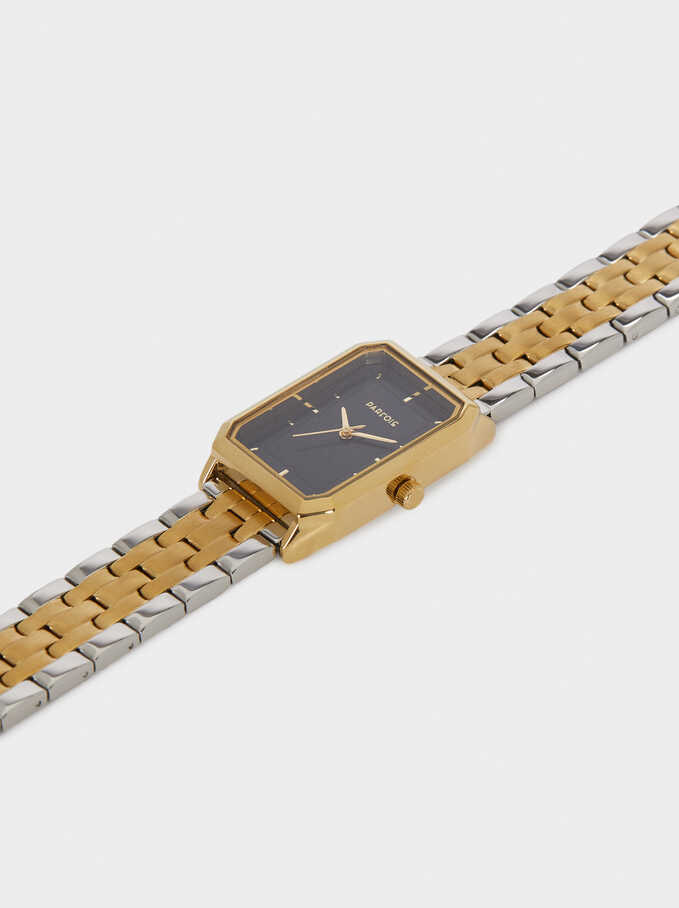 Reloj Formal Gold Tray, Dorado, hi-res