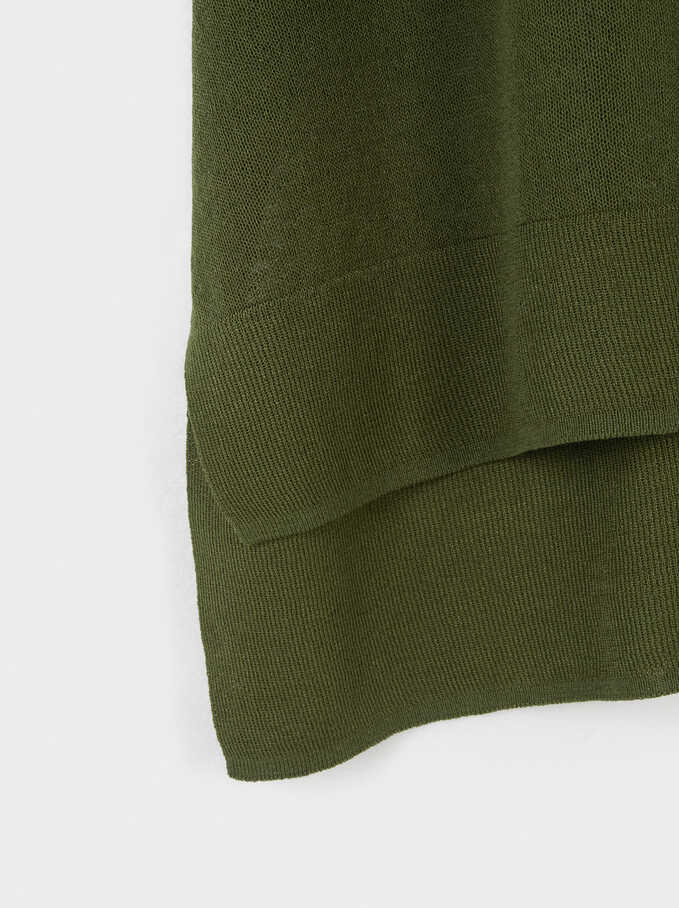 Short Sleeve Knit Top, Green, hi-res