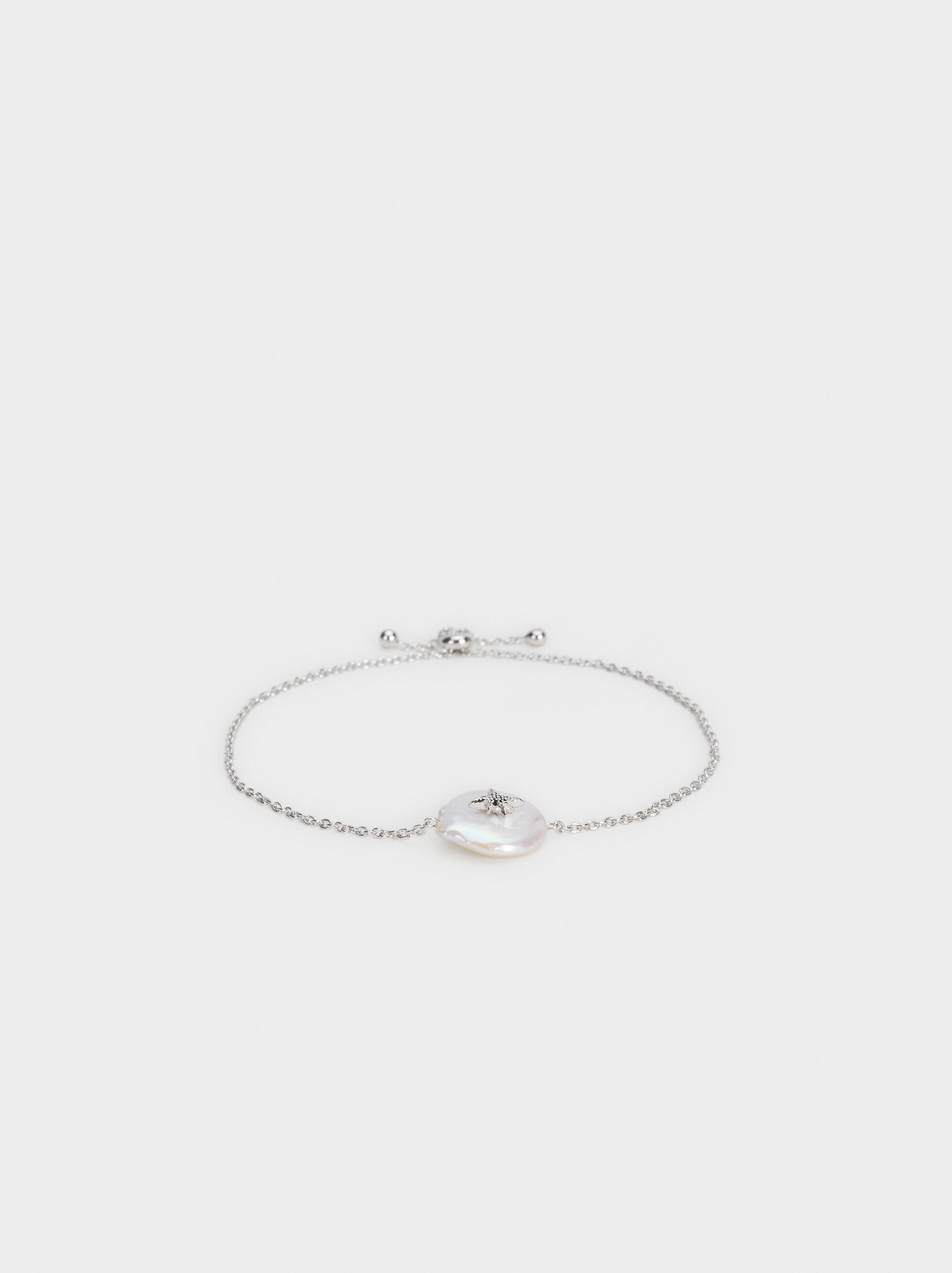 Adjustable 925 Silver Bracelet With Pendant, , hi-res