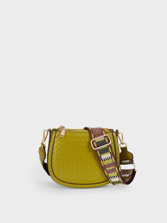 Crossbody Bag With Double Handle, Green, hi-res