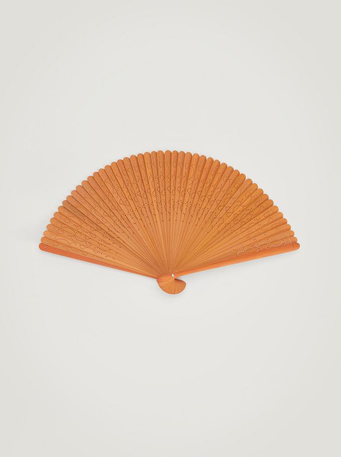 Bamboo Fan, Yellow, hi-res