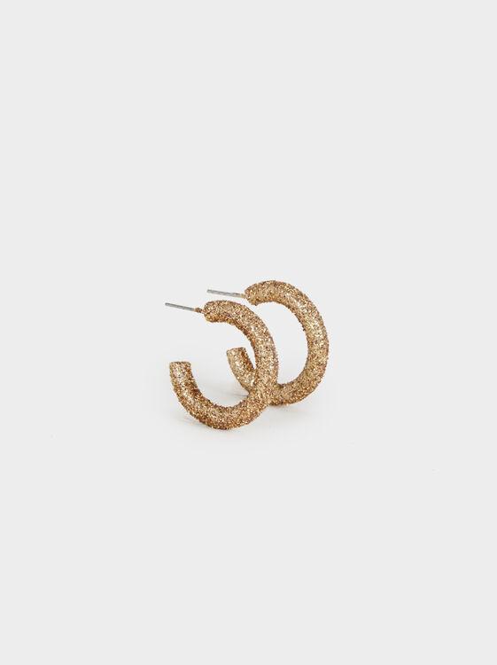 Hoop Fever Small Rhinestone Hoop Earrings, , hi-res