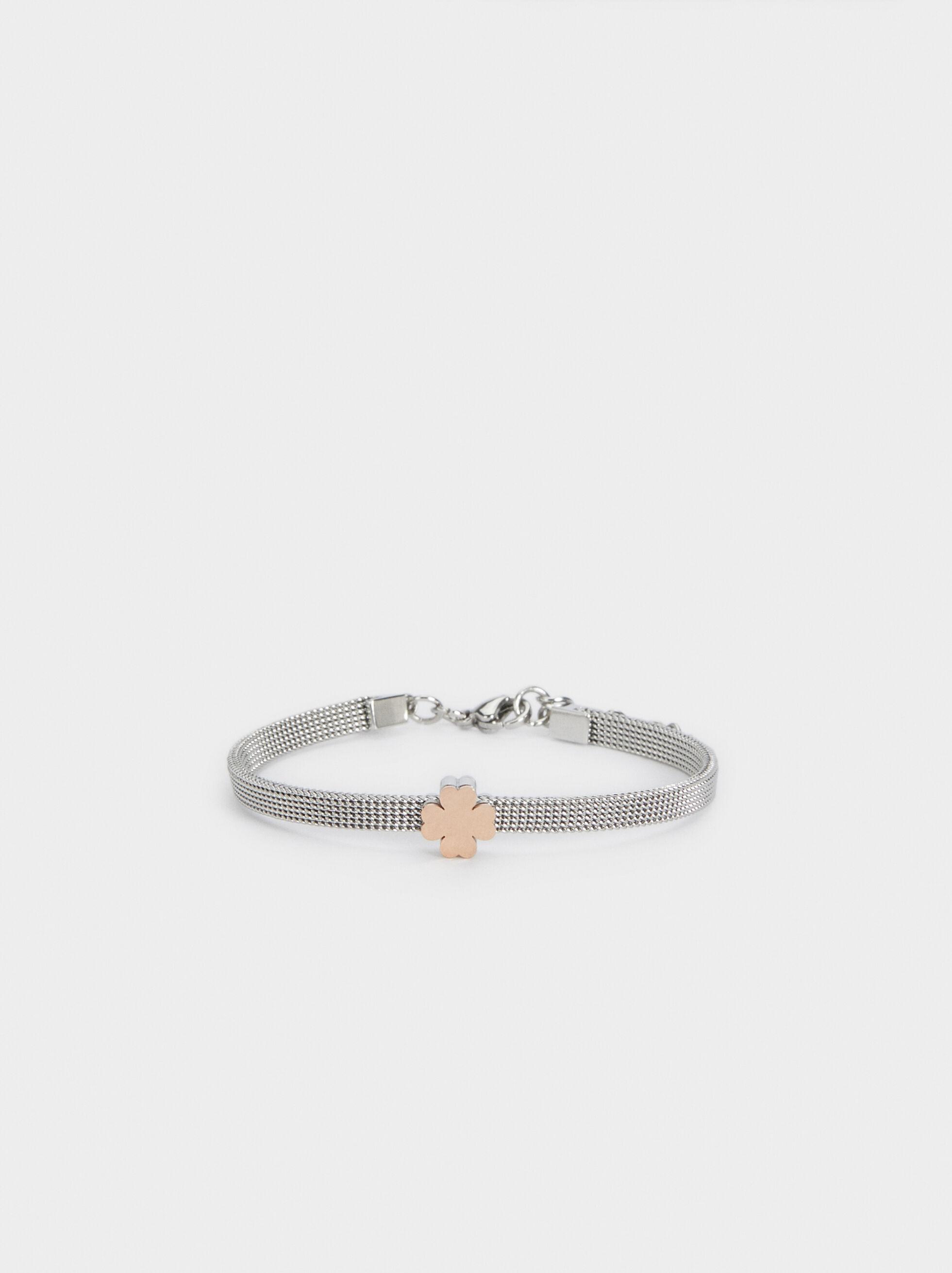 Steel Flower Bracelet, , hi-res