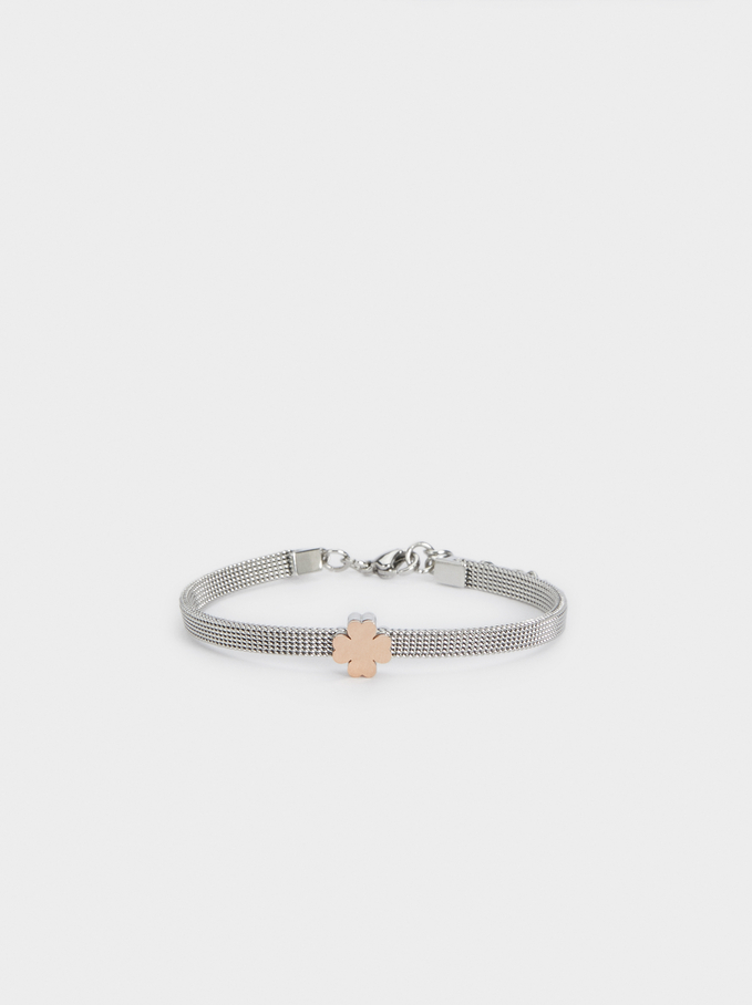 Stainless Steel Two-Tone Bracelet, , hi-res
