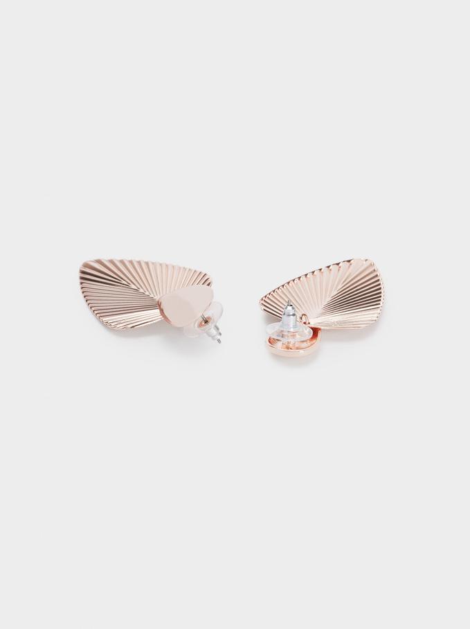 Long Leaf Earrings, Orange, hi-res