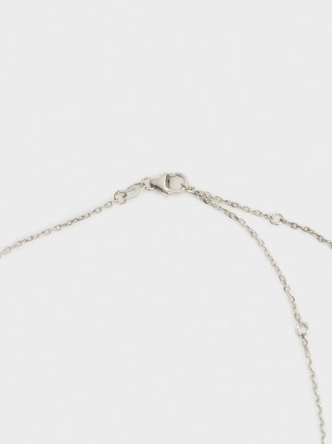 Collar Corto De Plata 925 Trébol, Plateado, hi-res