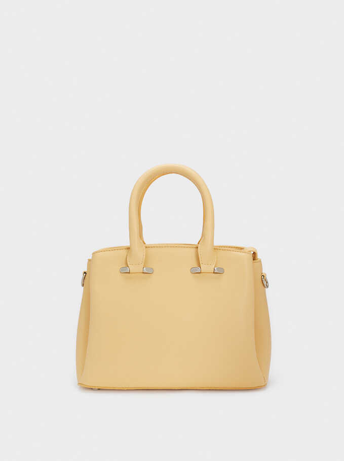 Tote Bag With Adjustable Handle, Yellow, hi-res