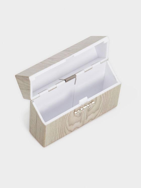 Faux Wood Cigarette Box, Beige, hi-res