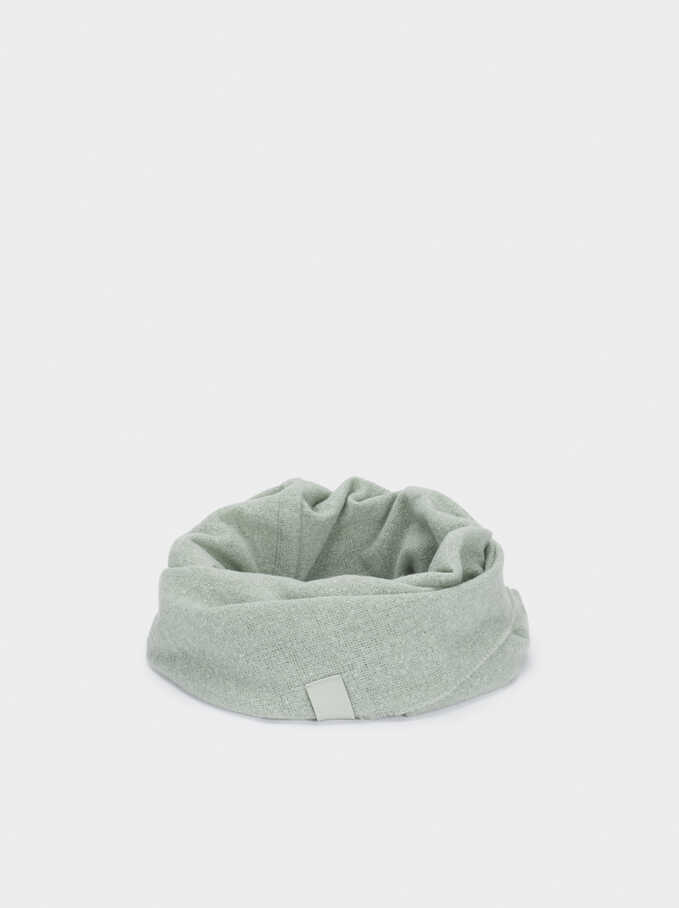 Plain Snood, Green, hi-res