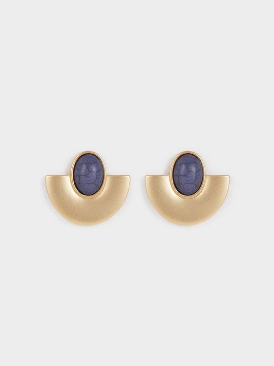 Zorba Medium Earrings With Stone, Multicolor, hi-res