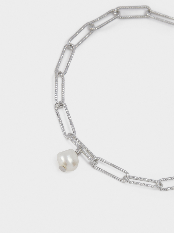Bracelet With Pearl, Silver, hi-res