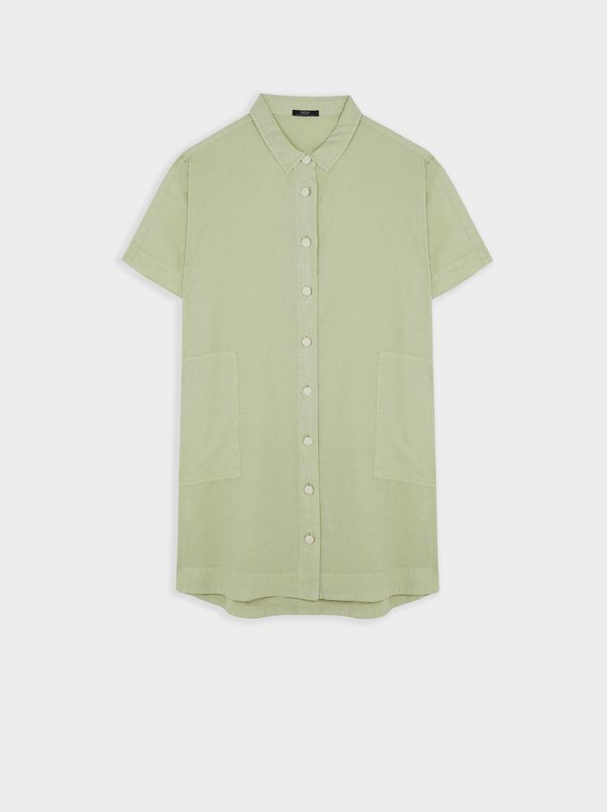 Shirt Dress With Pockets, Grey, hi-res