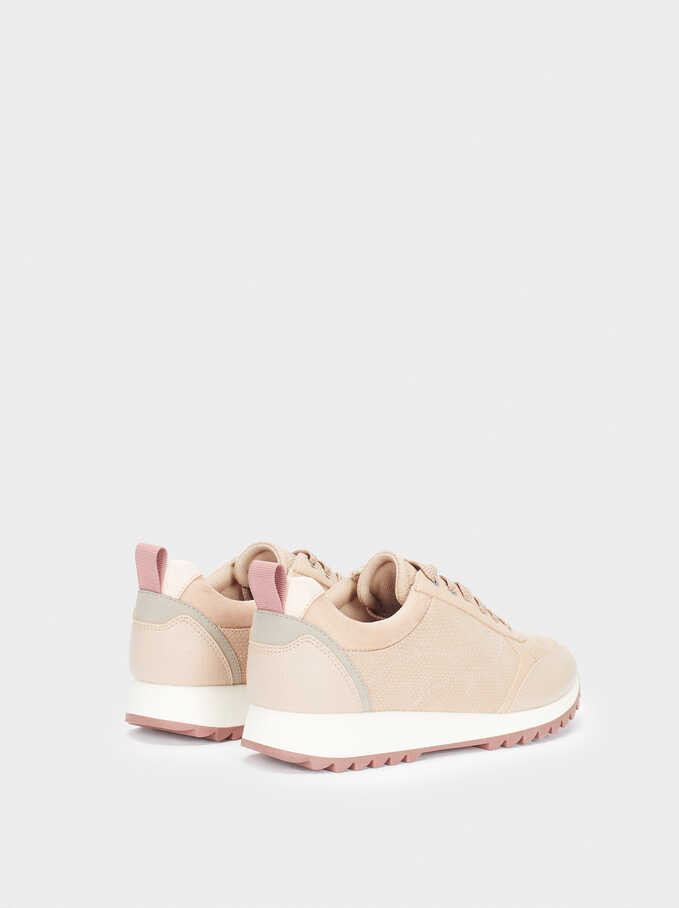 Trainers With Matching Colours, Pink, hi-res