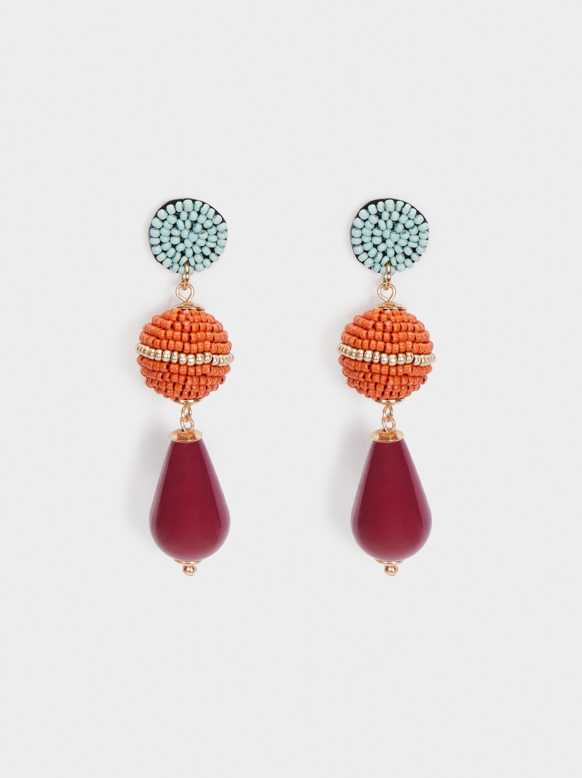 Cherry Blossom Long Dangle Earrings, Multicolor, hi-res