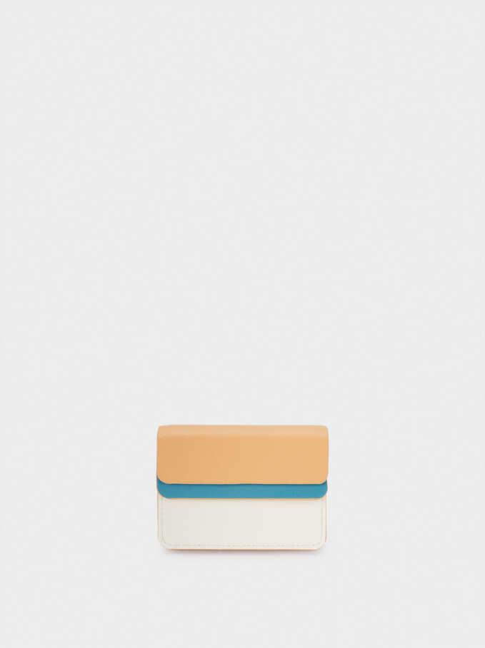 Porte-Cartes Patchwork, Bleu, hi-res