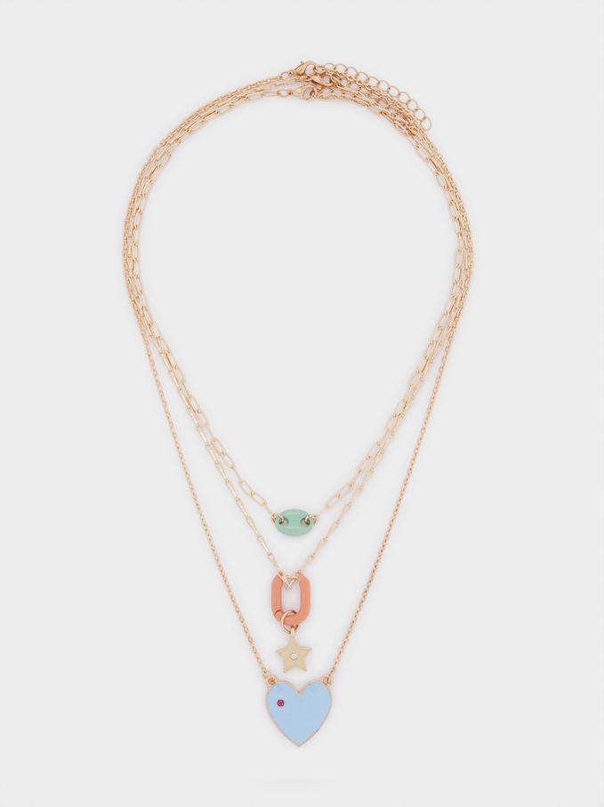 Set Di Collane Abbinate Con Charm, Multicolore, hi-res