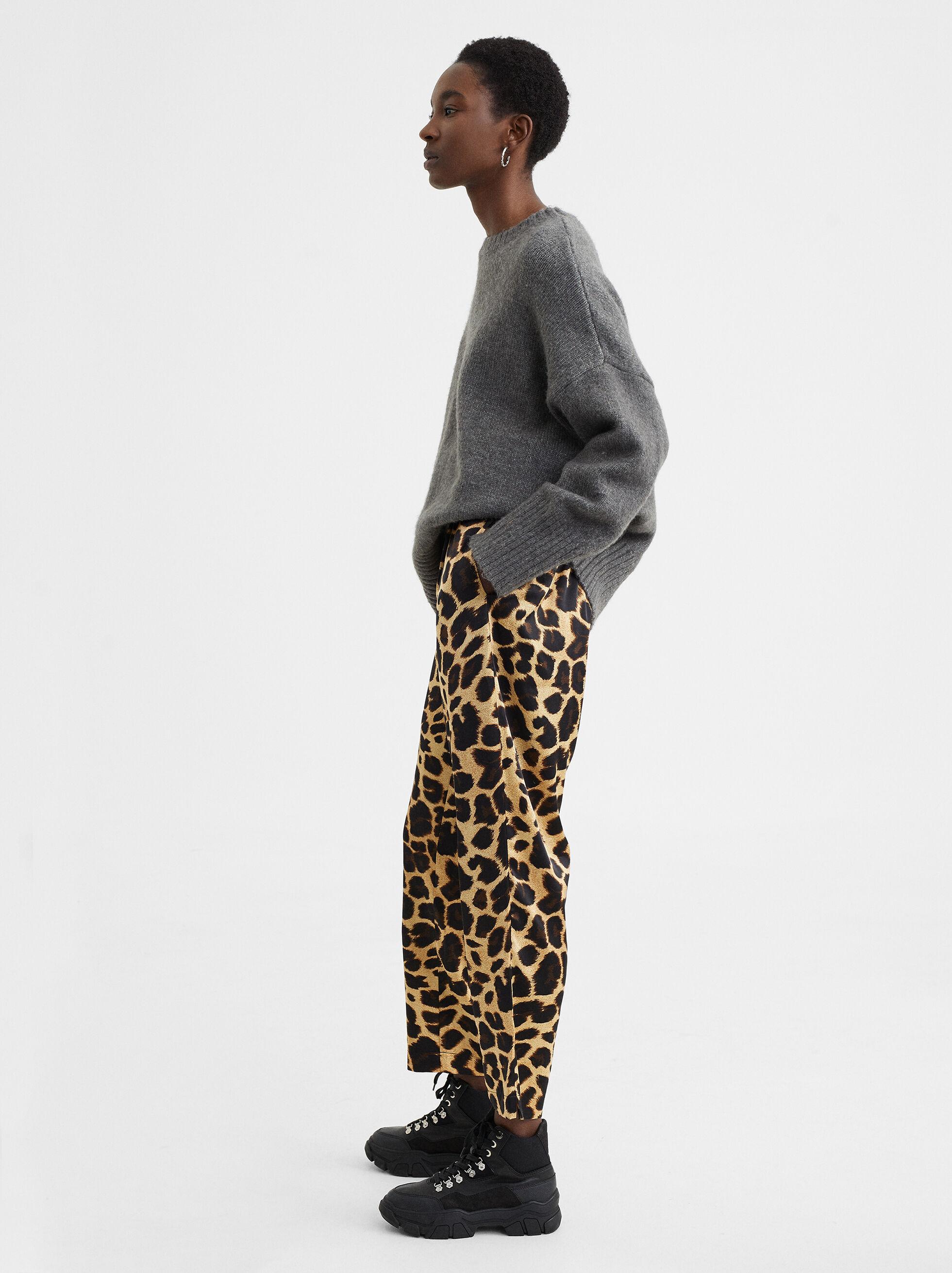 Animal Print Trousers, Golden, hi-res