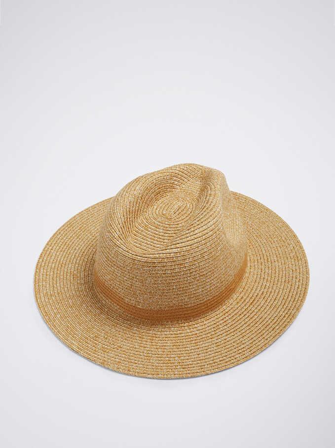 Woven Hat, Camel, hi-res