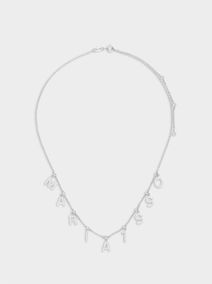 Short 925 Silver Customizable Silver Necklace, Silver, hi-res