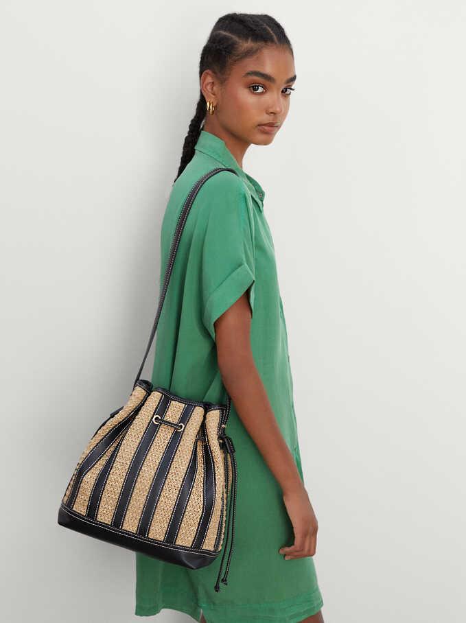 Braided Bucket Bag, Ecru, hi-res