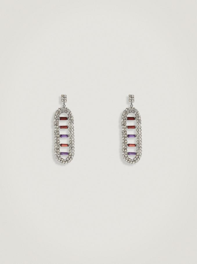 Pendientes Colgantes Con Cristales, Multicor, hi-res