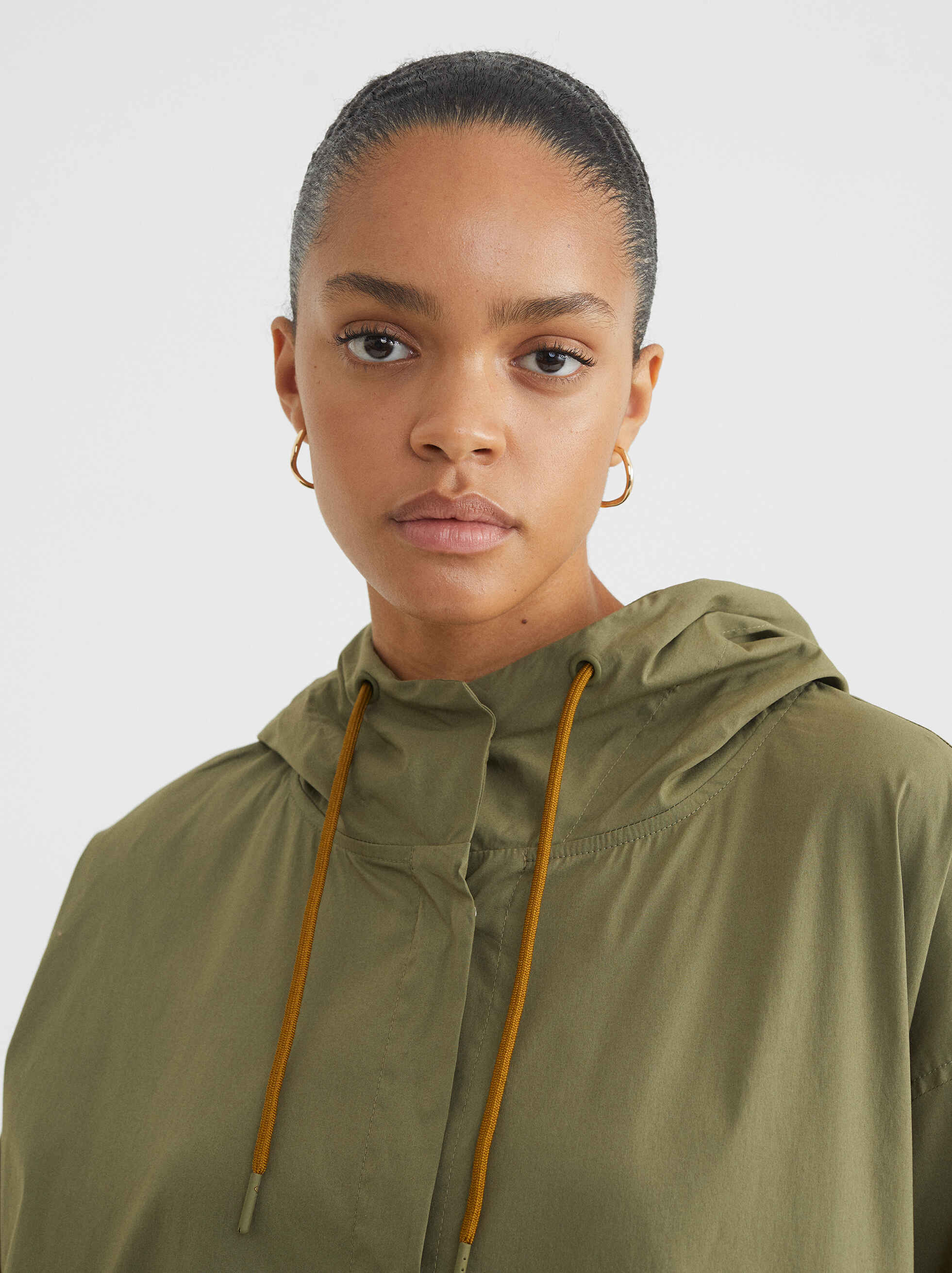 Light Jacket With Hood, Khaki, hi-res