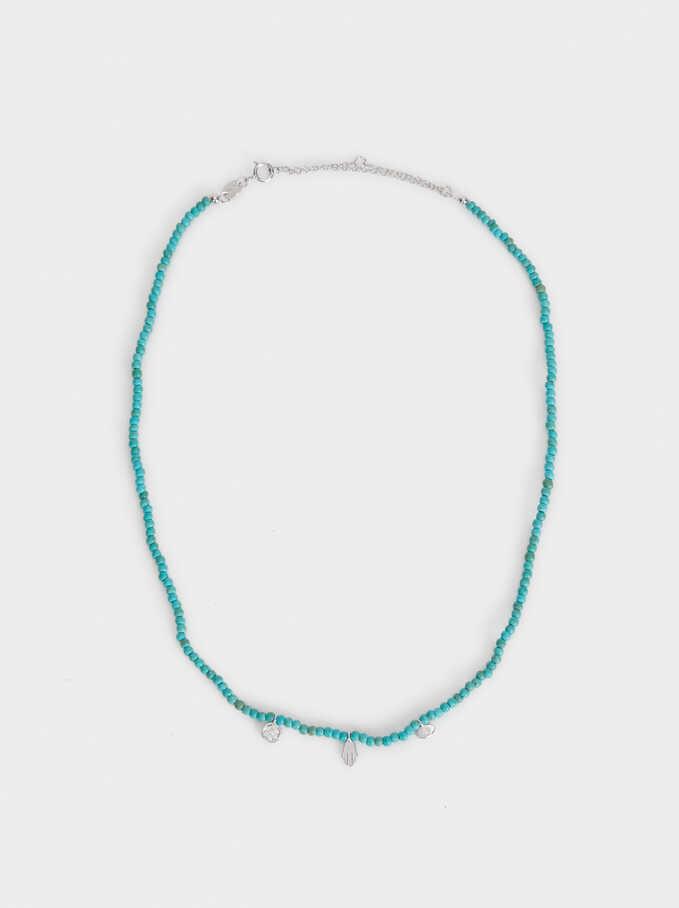 Collar Corto Plata 925, Verde, hi-res