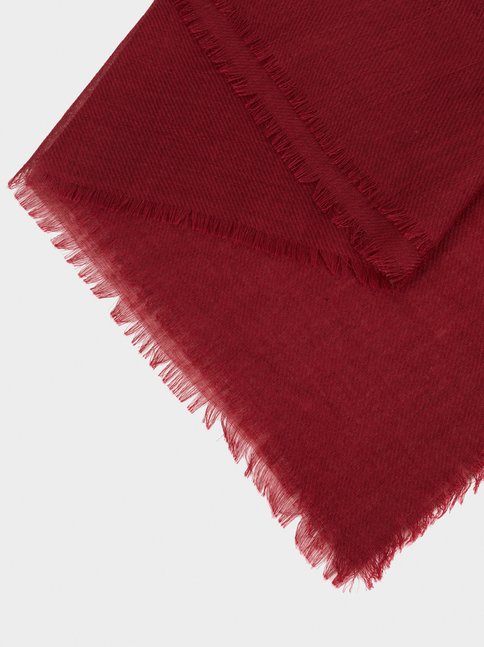 Plain Pashmina, Bordeaux, hi-res