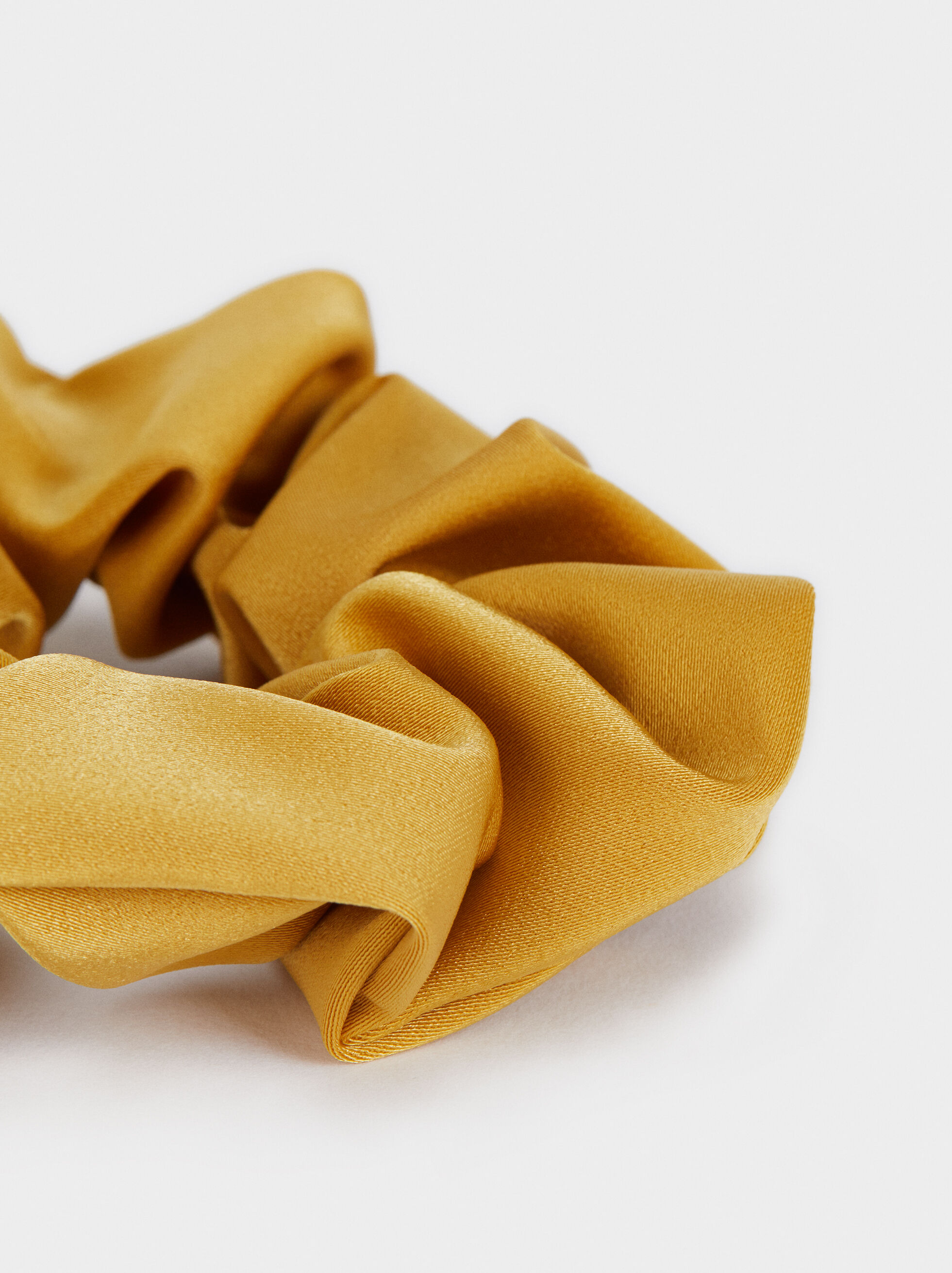 Multi-Coloured Print Scrunchie, Mustard, hi-res