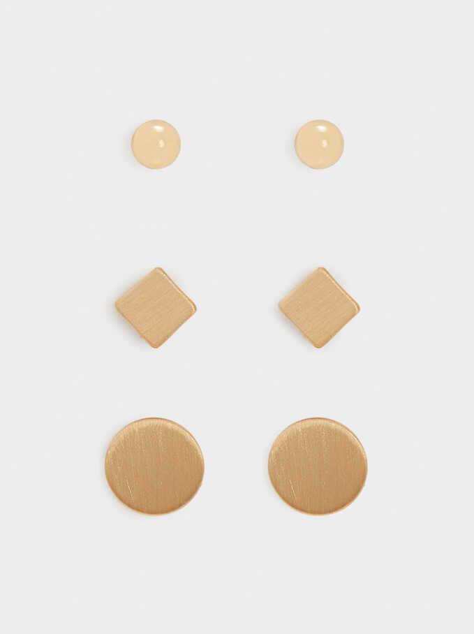 Gold Hoop Earring Set, Golden, hi-res
