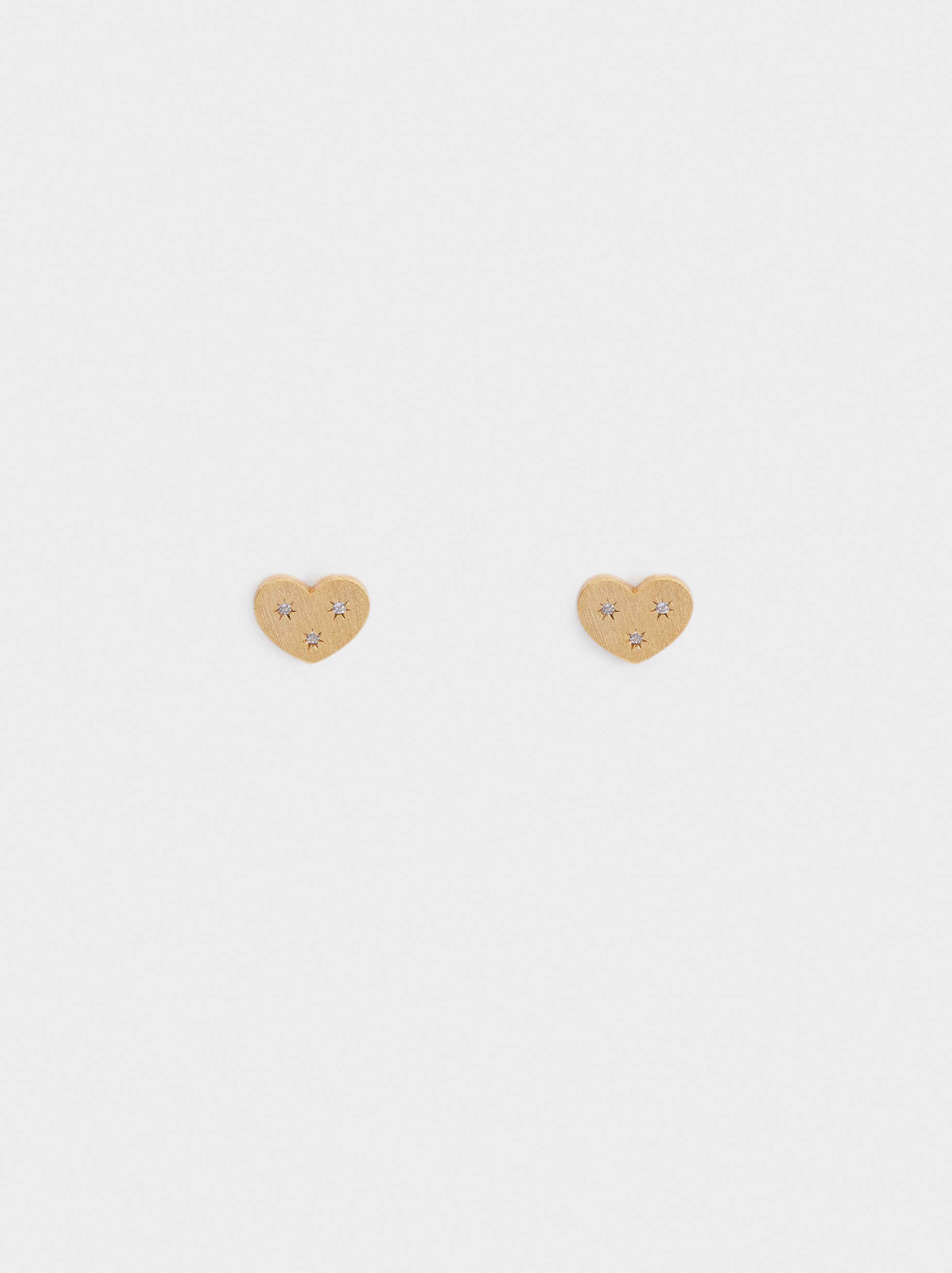925 Silver Heart Stud Earrings, , hi-res