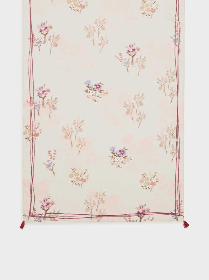 Pañuelo Estampado Floral, Rojo, hi-res