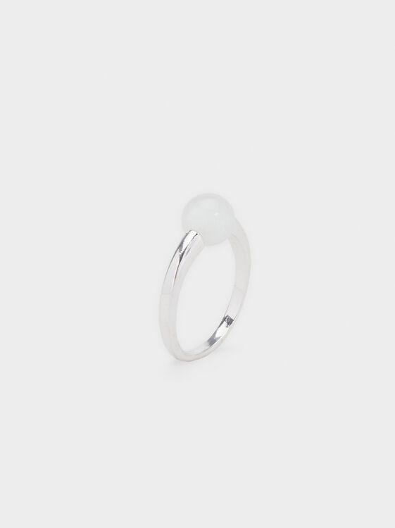 Faux Pearl Ring, , hi-res