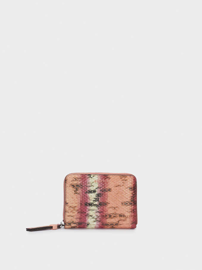 Animal Print Purse, Pink, hi-res