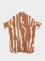Printed T-Shirt, Brown, hi-res