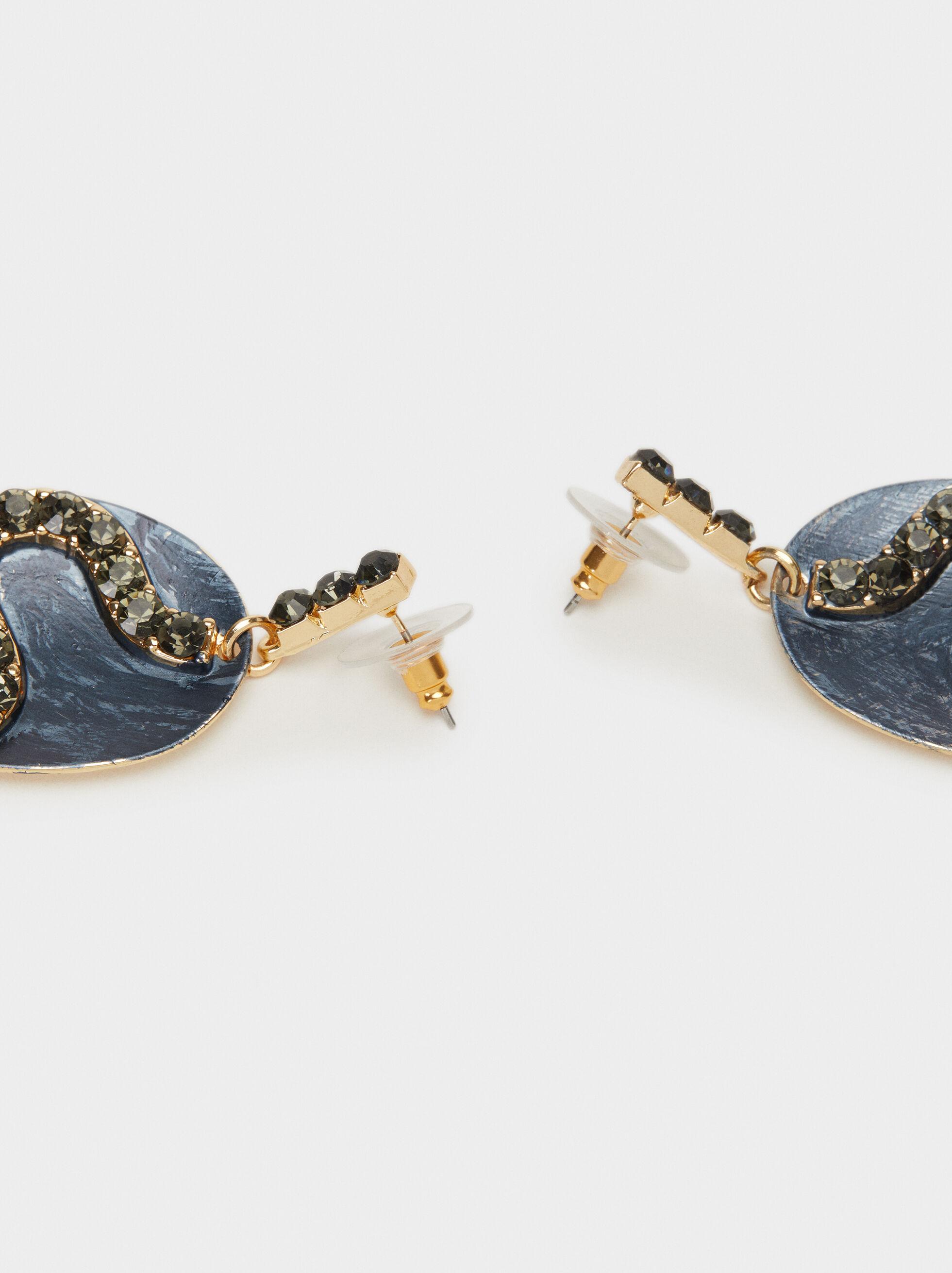Boucles D'Oreilles Longues Savage Sparkle, Bleu, hi-res