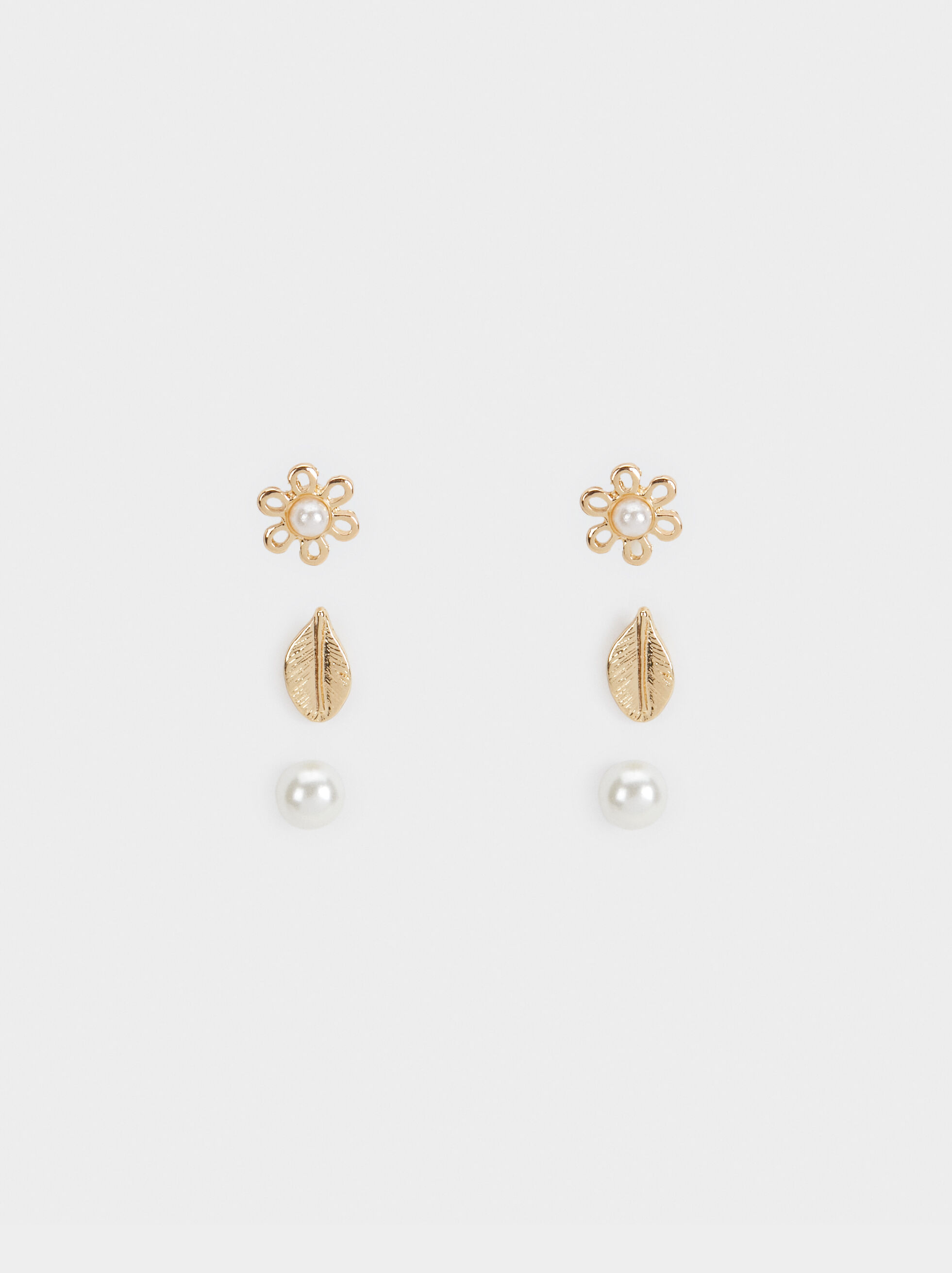 Set Of Floral Studs, , hi-res