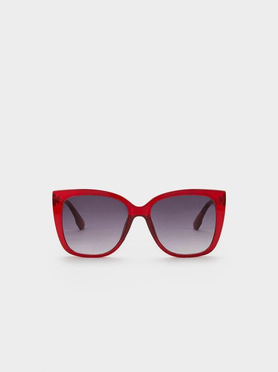 Resin Sunglasses, Red, hi-res