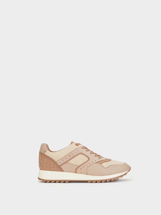 Sneakers With Perforation Detailing, , hi-res